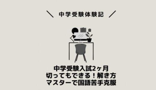 中学受験入試2ヶ月切ってもできる!解き方マスターで国語苦手克服